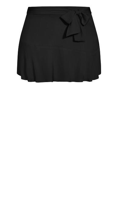 Summer Ruffle Skort - black