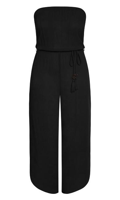 Relax Tie Jumpsuit - black