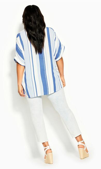 Hamptons Stripe Top - indigo stripe