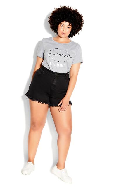 Sexy Fray Short - black