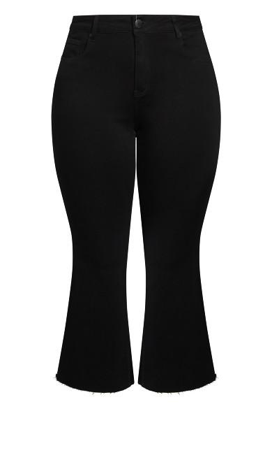 Harley Crop Flare Jean - black