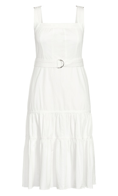 Denim Thrills Maxi Dress - ivory