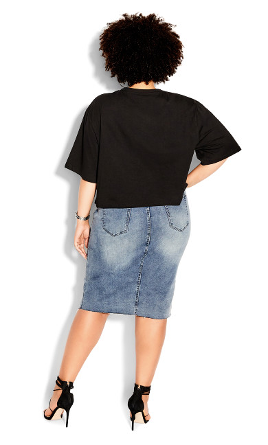 Cropped Muse Tee - black