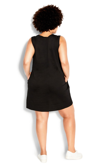 Raw Attitude Dress - black