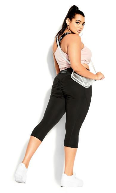 Scrunch Bum Legging - black