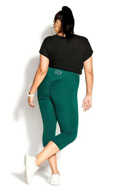 3/4 Scrunch Bum Legging - sea green