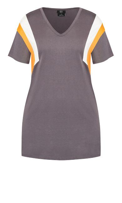 Stripe Charm Dress - granite