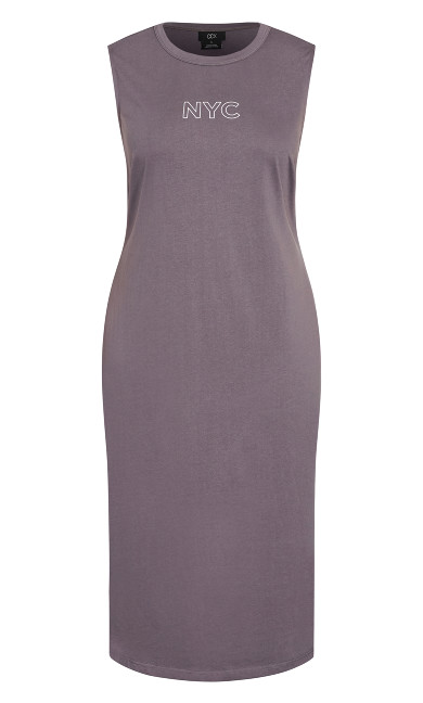 NYC Midi Dress - granite