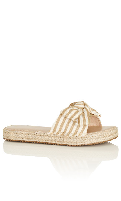 Meline Slide - natural stripe