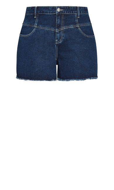 Off Duty Corset Short - dark denim
