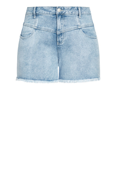 Off Duty Corset Short - denim