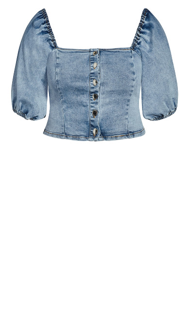 Denim Puff Shirt - light wash