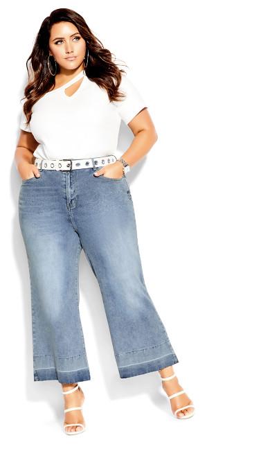 Harley Culotte Jean - mid denim