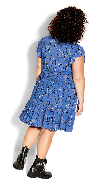 Blue Meadow Dress - blue