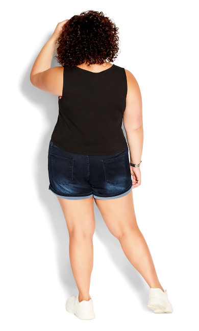 Corset Vibe Short - dark denim