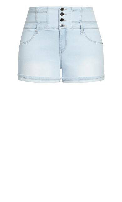 Corset Vibe Short - light denim