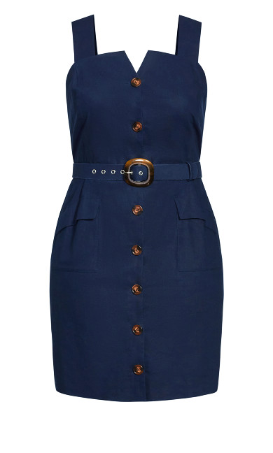Sweet Utility Dress - navy