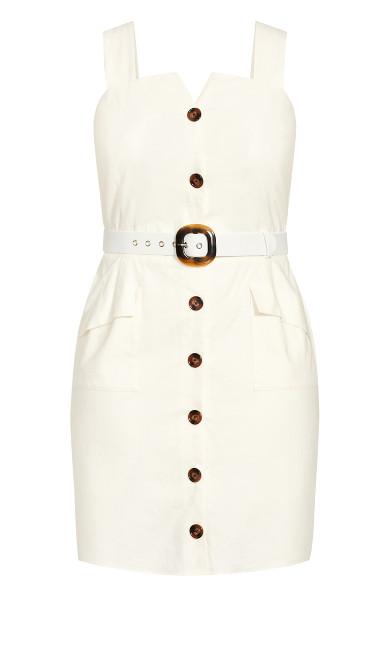 Sweet Utility Dress - ivory