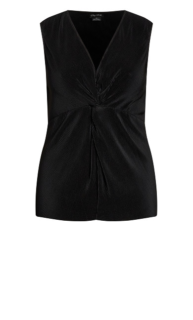 Simply Pleated Top - black