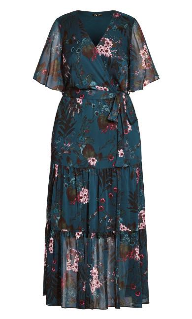 Botanica Maxi Dress - peacock