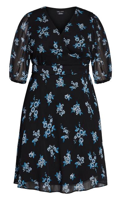 Ditsy Bloom Dress - peacock ditsy