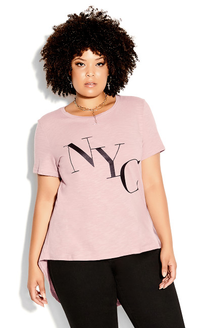 Cool NY Tee - dusty rose