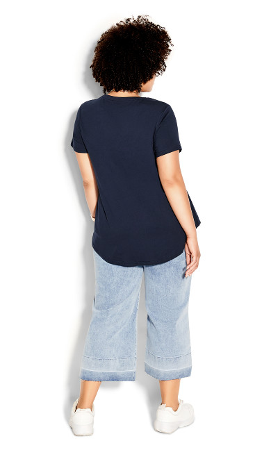 Stitch Up Tee - navy