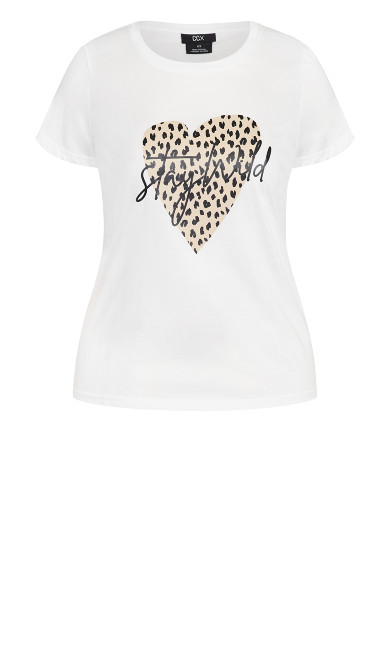Stay Wild Tee - ivory