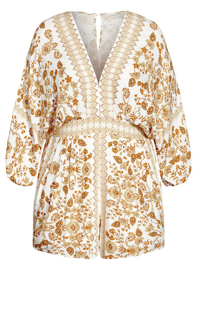 Nisha Gold Playsuit - ivory