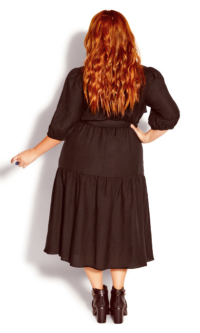 Sweet Sleeve Dress - black