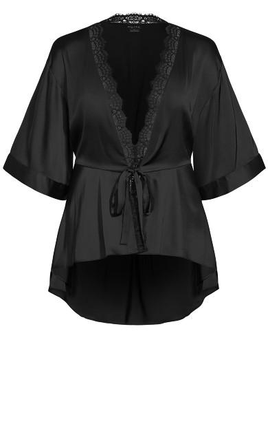 Ethereal Sleep Robe - black