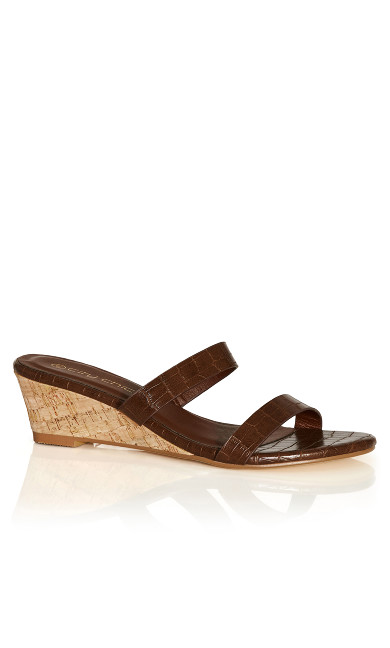 Blake Mini Wedge - chocolate
