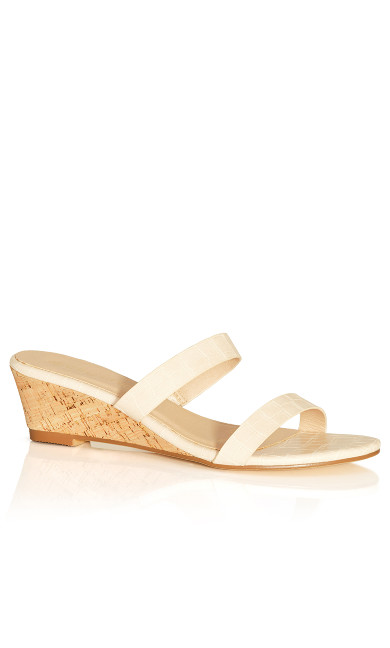 Blake Mini Wedge - beige