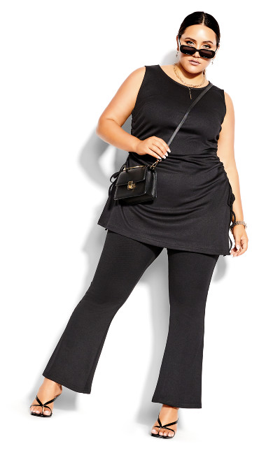 Knit Flare Pant - black