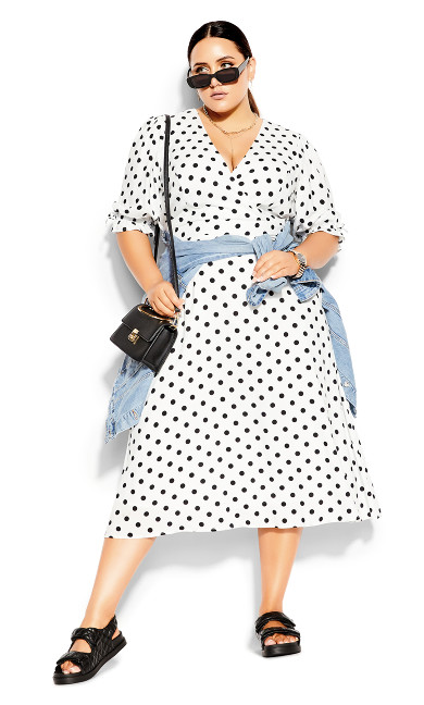 Synergy Spot Dress - black spot