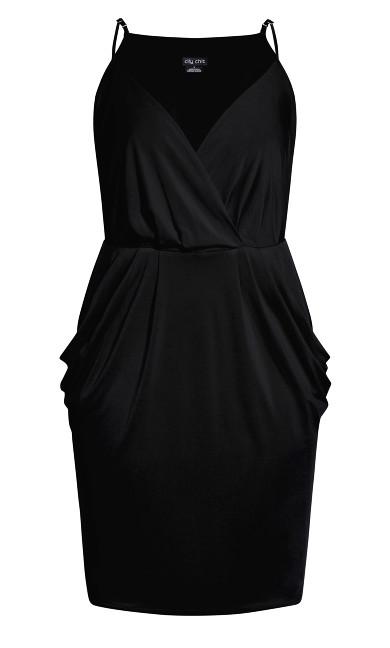 Luxe Drape Dress - black
