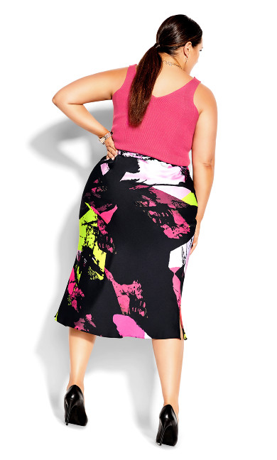 Colour Shock Skirt - black