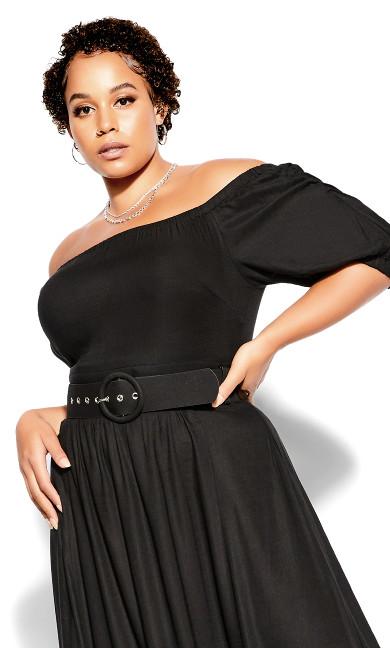 Ruffle Fling Dress - black