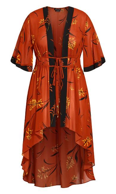 Leaf Floral Jacket - rust