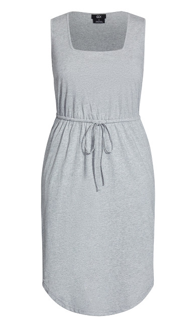 Soft Tie Dress - silver