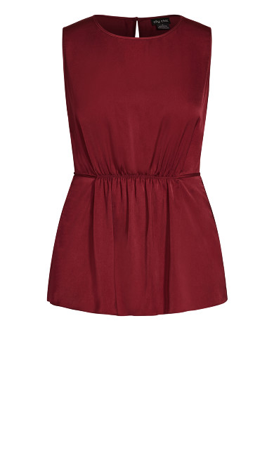 Wistful Dreams Top - pomegranate
