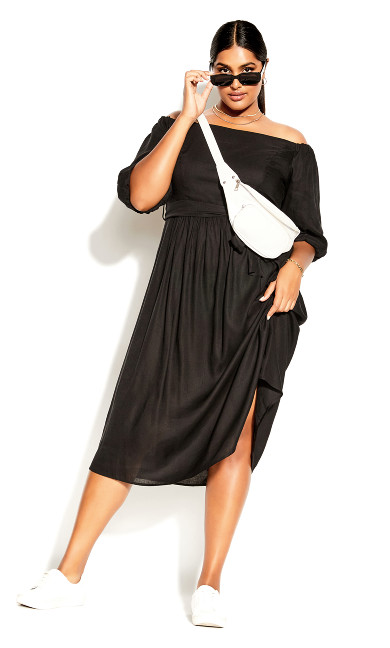 Falling In Love Dress - black