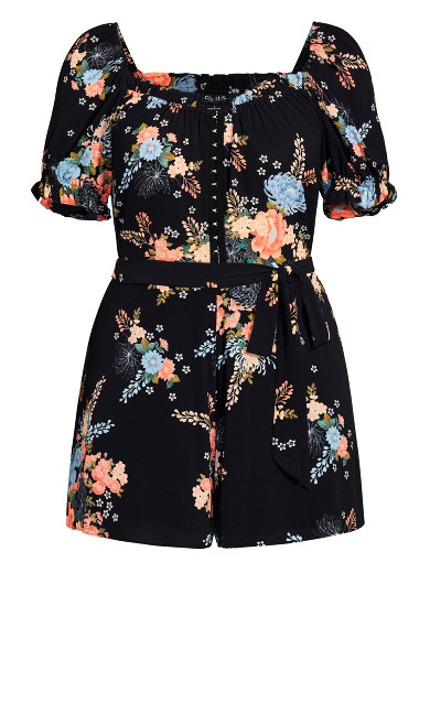 Poised Playsuit - black