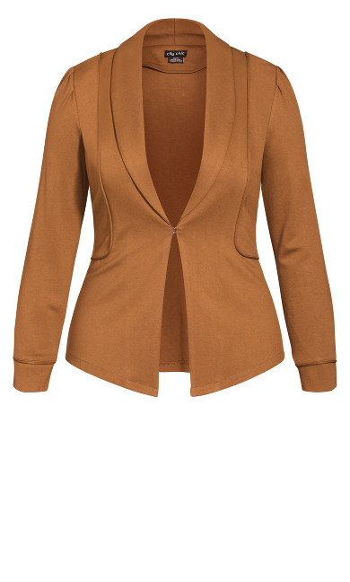 On Point Jacket - cognac
