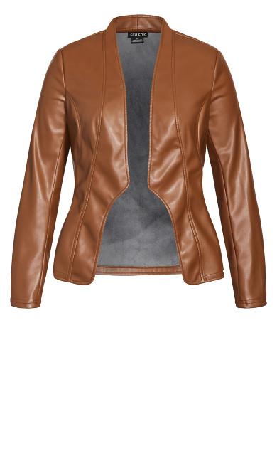 Sleek Royal Jacket - cognac