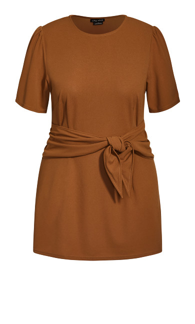 Tie Point Dress - fudge