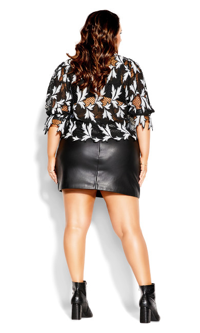 Luxe Lace Top - black