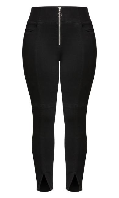 Harley Split Corset Jean - black
