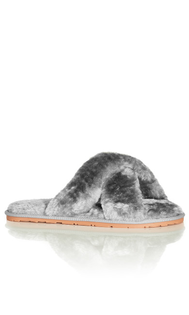 Fuzzy Slipper - grey