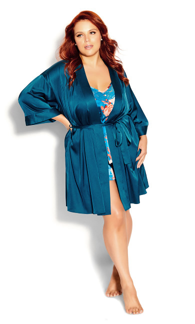 Ally Robe - blue teal